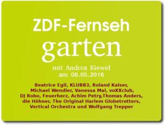 zdf fernsehgarten am 08.05.2016 mit andrea kiewel