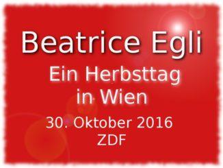 Beatrice Egli ein Herbsttag in wien am 30.10.2016 im ZDF