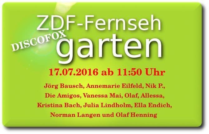 discofox fernsehgarten am 17.07.2016